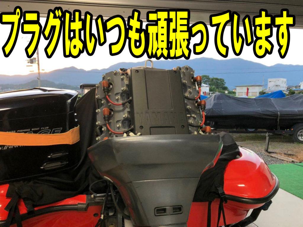 バスボートエンジンプラグ交換